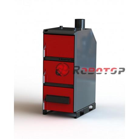 Дровяной твердотопливный котел (теплообменник) Robotop FW 25
